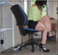 minijupe noir blouse verte 13