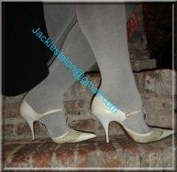 jupe noir collant gris 1
