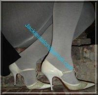 jupe noir collant gris 2