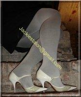 jupe noir collant gris 7