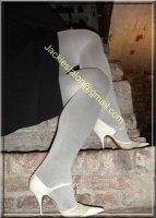 jupe noir collant gris 9