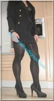 Minijupe noir guepiere noir