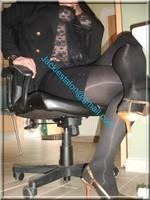 escarpins dore minijupe noir 2