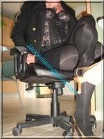 escarpins dore minijupe noir 3