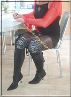 robe noir sexy bolero rouge 3