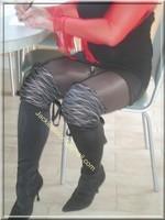robe noir sexy bolero rouge 2