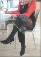 robe noir sexy bolero rouge 4