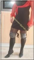 robe noir sexy bolero rouge