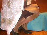 escarpins velours noirs 10 cm  robe noir a fente 3 [800x600]