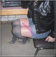 minijupe jeans veste cuir 14