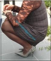 robe marron ligne