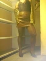 Chaussures bordeau brillante jupe cuir marron14