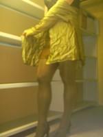 Chaussures bordeau brillante jupe cuir marron11