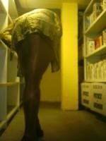 Chaussures bordeau brillante jupe cuir marron26