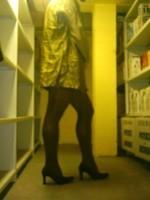 Chaussures bordeau brillante jupe cuir marron27
