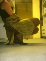 Chaussures bordeau brillante jupe cuir marron31