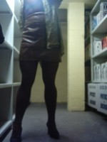 Chaussures bordeau brillante jupe cuir marron36
