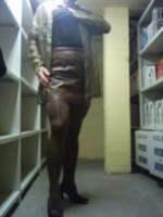 Chaussures bordeau brillante jupe cuir marron34