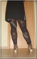 legging marron dentelle minijupe jeans 3