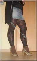 legging marron dentelle minijupe jeans 1