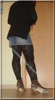 legging marron dentelle minijupe jeans 4