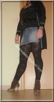 legging marron dentelle minijupe jeans 5