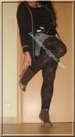legging marron dentelle minijupe jeans 6
