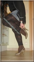 legging marron dentelle minijupe jeans 13