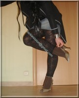 legging marron dentelle minijupe jeans 9