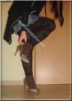 legging marron dentelle minijupe jeans 8