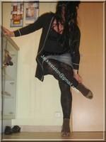 legging marron dentelle minijupe jeans 11