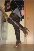 legging marron dentelle minijupe jeans