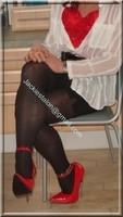 minijupe noir guepiere rouge 17