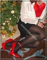 minijupe noir guepiere rouge 49