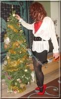minijupe noir guepiere rouge 55