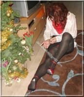 minijupe noir guepiere rouge 58