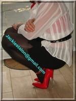 minijupe noir guepiere rouge 7
