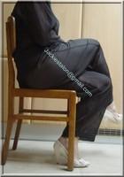 pantalon noir transparent