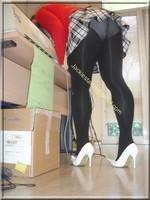 jupette careau blanc et noir blouse rouge 9