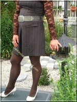 robe marron ligne 3