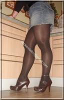minijupe jeans blouse noir 14