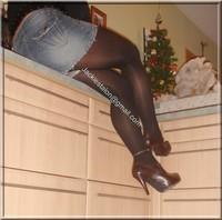 minijupe jeans blouse noir 15