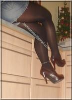 minijupe jeans blouse noir 16