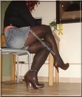 minijupe jeans blouse noir 26