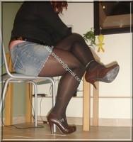 minijupe jeans blouse noir 27