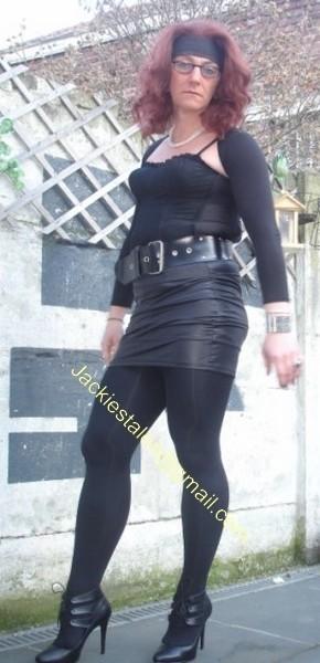 minijupe noir similie cuir 20