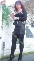 minijupe noir similie cuir 23