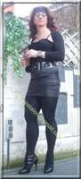 minijupe noir similie cuir 24