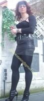 minijupe noir similie cuir 25