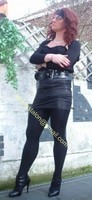 minijupe noir similie cuir 28